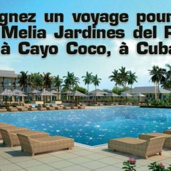 melia 350x350 - Concours Sunwing: Gagnez un voyage pour 2 au Melia Jardines del Rey à Cayo Coco, à Cuba