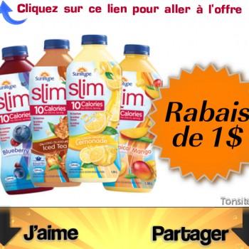 slim sunrype 1 jpg 350x350 - Coupon rabais de 1$ sur un produit SunRype Slim de 1,36 L