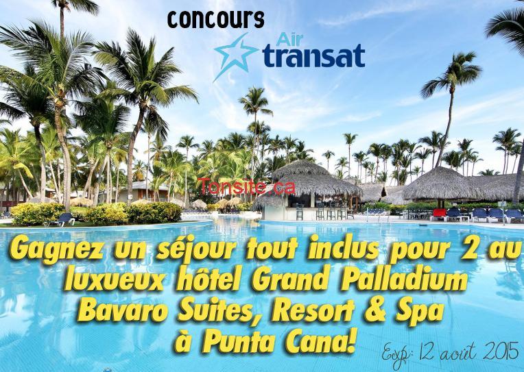 air transat concours - Concours Air Transat: Gagnez un séjour de 7 nuits pour 2 personnes tout-inclus à Punta Cana en République Dominicaine