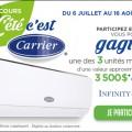 carrier concours 120x120 - Concours Carrier: Gagnez 1 des 3 unités murales Carrier Infinity Series (valeur de 3500$)