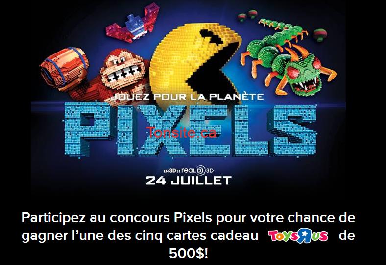 cineplex concours - Concours Cineplex: Gagnez 1 des 5 cartes-cadeaux Toys R Us de 500 $