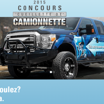 delo 350x350 - Concours Delo: Gagnez une camionnette Ford F250 2015 (valeur dde 55610$ US)