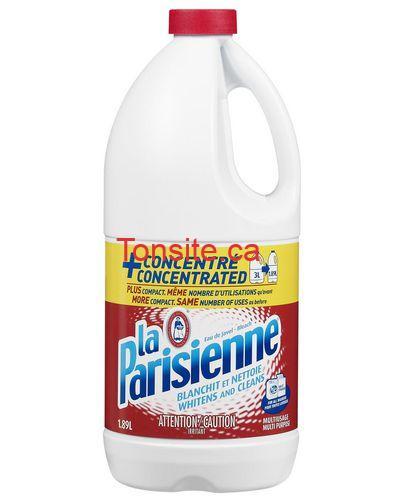 laparisienne eau de javel - Eau de javel La Parisienne à 99¢ seulement!