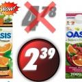 oasis 239 120x120 - Jus d'orange de fruits ou smoothie réfrigérés Oasis à 2,39$ au lieu de 4,78$