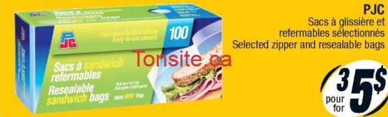 sacs a sandwich - Emballage de 100 sacs à sandwich refermable à 1.66$ seulement (sans coupon)