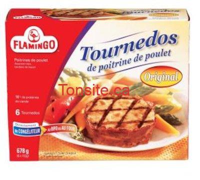 tournedos flamingo - Tournedos ou souvlaki de poulet Flamingo à 5.98$ au lieu de 10.99$