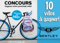 Concours Bentley: Gagnez 1 des 10 vélos d'une valeur de 550$ chacun