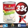 Soupes condensées prêtes à servir à 33¢ au lieu de 1,14$