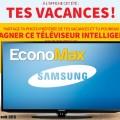 Concours Economax: Gagnez une télévision 40po DEL de Samsung d'une valeur de 649$