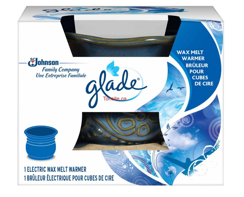Brûleur pour cubes de cire Glade gratuit + 3.03$ dans vos poches!