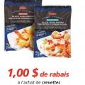 Coupon rabais de 1$ sur les crevettes Irresistibles (340g)
