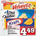 Barres de fromage kraft, P'tit Québec ou Vetlveeta à 4.49$ (sans coupon)