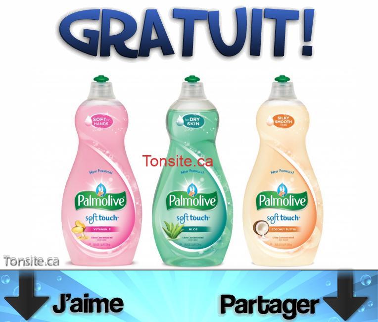 Obtenez un liquide à vaisselle Palmolive gratuitement + 12¢ dans vos poches