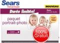Centre de Photographie Sears: Obtenez un paquet portrait-photo entièrement GRATUIT! (valeur de 209,89$)
