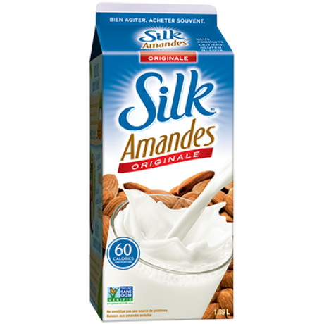 Coupon rabais de 1$ sur un produit Silk (1.89L)