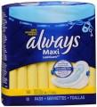 Serviettes hygiéniques ou protèges dessous Always à 2,49$ au lieu de 4.97$