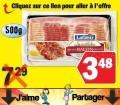 Bacon Lafleur (500g) à 3,48$ au lieu de 7,29$