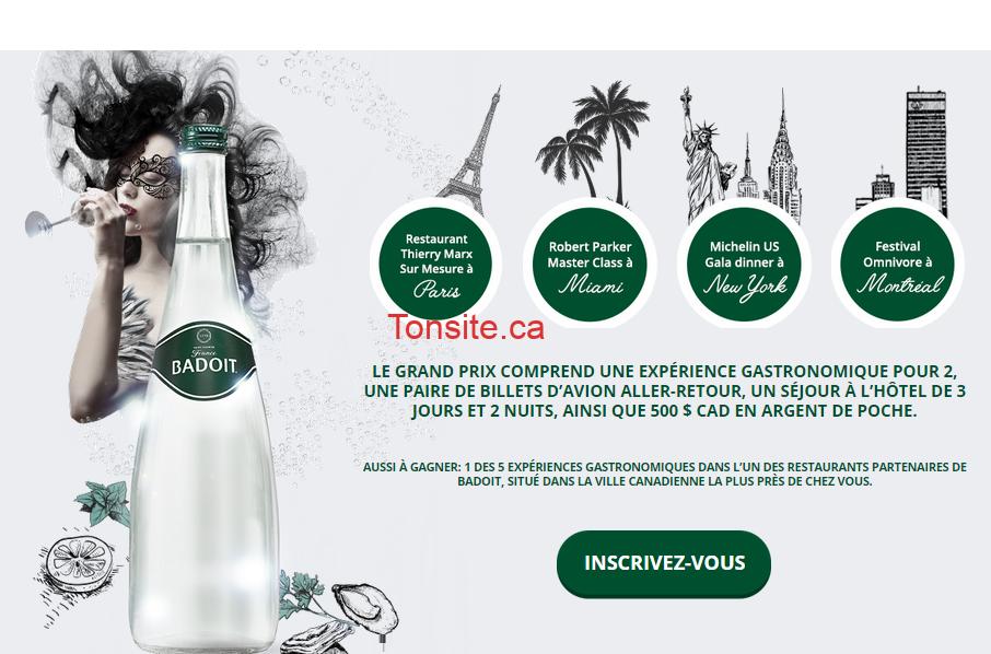 Photo of Concours Badoit: Gagnez une escapade gastronomique pour 2 à Paris, Miami, New York ou Montréal!