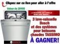 Concours Bosch: Gagnez 1 des 3 lave-vaisselle Bosh (valeur de 2049$) ou des systèmes pour boissons chaudes TASSIMO