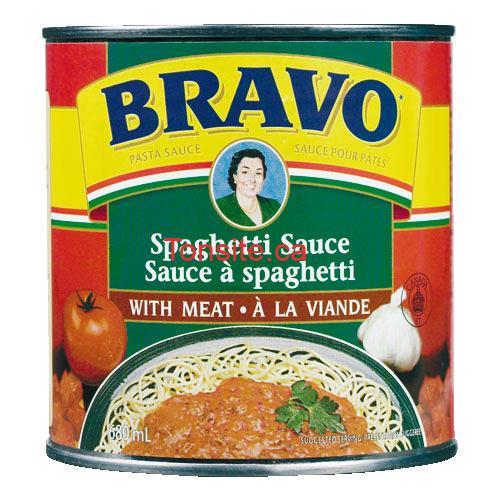 Sauce à spaghetti BRAVO à 88¢ au lieu de 1,87$