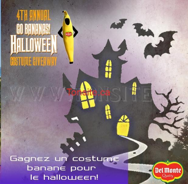Concours Del Monte: Gagnez 1 des 1000 costumes bananes Halloween à porter Del Monte!