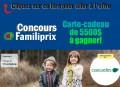 Concours Familiprix et Cascades: Gagnez une carte-cadeau d'une valeur de 5500$