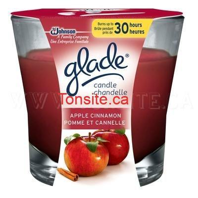 Chandelle en pot Glade GRATUITE + 50¢ dans vos poches