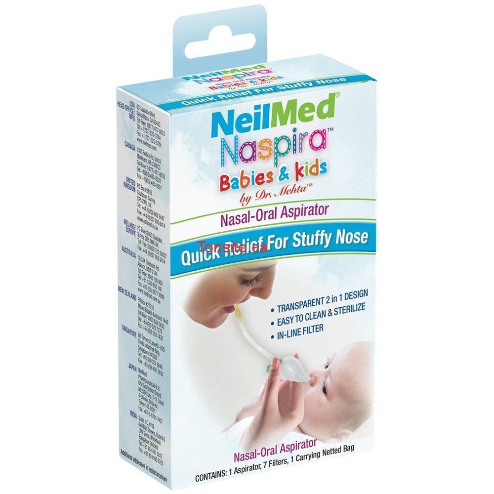 GRATUIT: Obtenez un aspirateur Nasal NeilMed pour bébés et enfants GRATUITEMENT!
