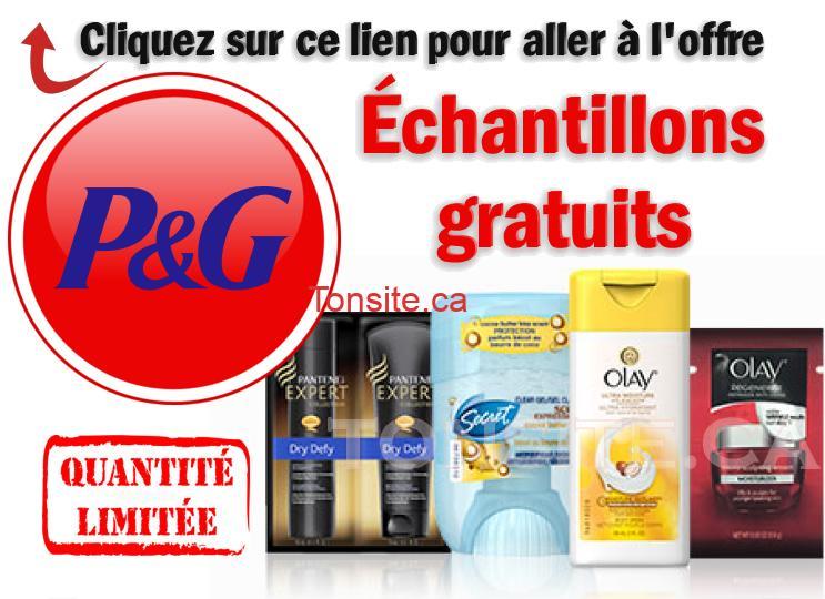 GRATUIT: Obtenez des échantillons gratuits P&G!