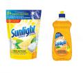 Coupon rabais de 1$ sur les sachets pour lave-vaisselle ET d'un liquide à vaisselle Sunlight