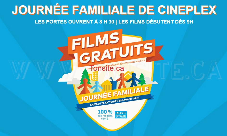 Cineplex: Regardez des films en famille GRATUITEMENT!