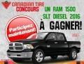 Concours Canadiantire et Motomaster: Gagnez un RAM 1500 SLT DIESEL 2016 (valeur de 75.000$)