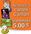 Coupon rabais de 5$ sur 3 cartes de souhaits Carlton