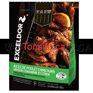Coupon rabais de 2$ sur un sac d'ailes de poulet surgelées de Exceldor