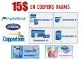 15$ en coupons rabais sur les produits HydraSense, NetiRinse, Coppertone et DrScholl's