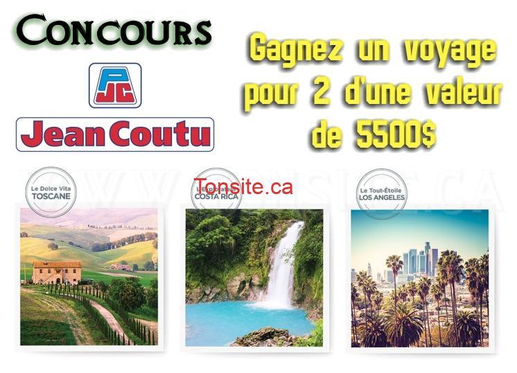 Concours Jean Coutu: Gagnez 1 des 3 voyages pour 2 d'une valeur de 5500$