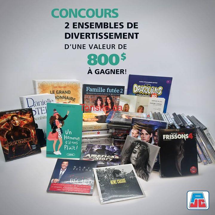 Concours Jean Coutu: Gagner 1 des 2 paniers de divertissement rempli de jeux, de films, de musique et de livres (valeur de 800$)