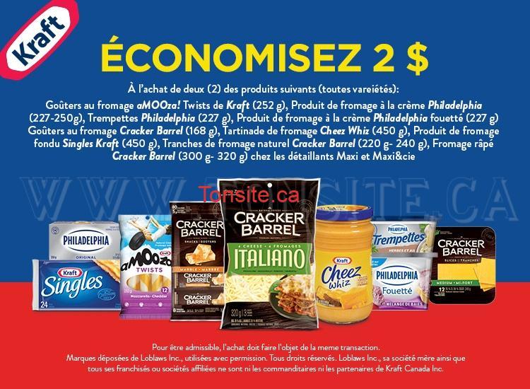 kraft2 - 2 nouveaux coupons rabais d'un total de 5$ sur les produits Kraft!
