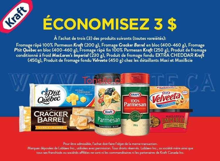 kraft3 - 2 nouveaux coupons rabais d'un total de 5$ sur les produits Kraft!