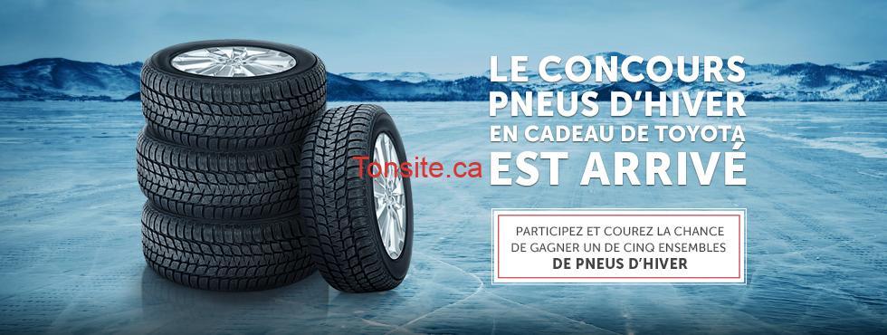 Concours Toyota: Gagnez 4 pneus d'hiver et 1000$ en cartes d'essence Esso et plus!
