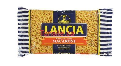 Pâtes alimentaires Lancia à 1$ au lieu de 2,57$