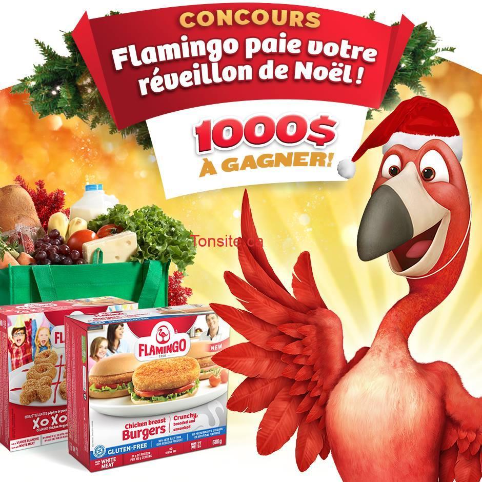 Concours Flamingo: Gagnez une carte-cadeau d'épicerie d'une valeur de 1000 $
