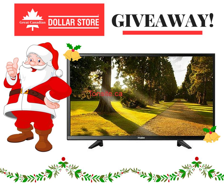 Concours Dollar Store: Gagnez une télévision del hdtv haier