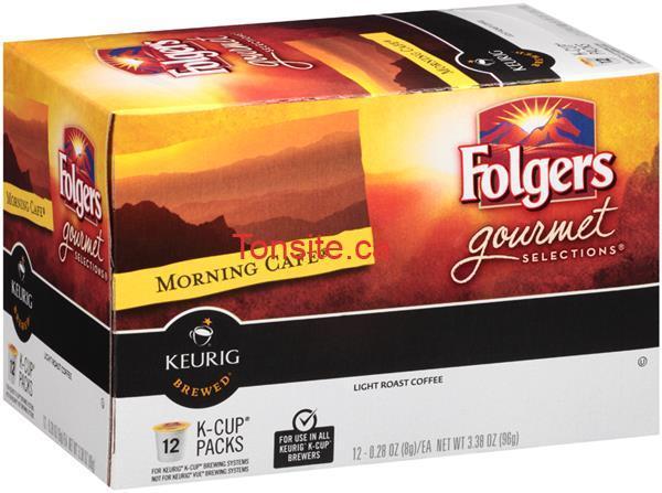 12 capsules de café K-CUP Folgers à 3,99$ au lieu de 6,99$
