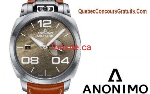 Concours World Tempus: Gagnez une montre anonimo militare de 3500$
