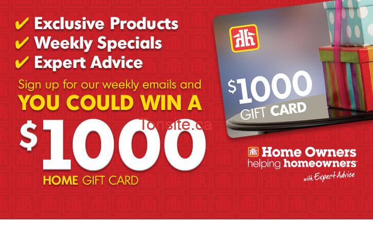 Concours Ngageinc: Gagnez une carte cadeau home hardware de 1000$