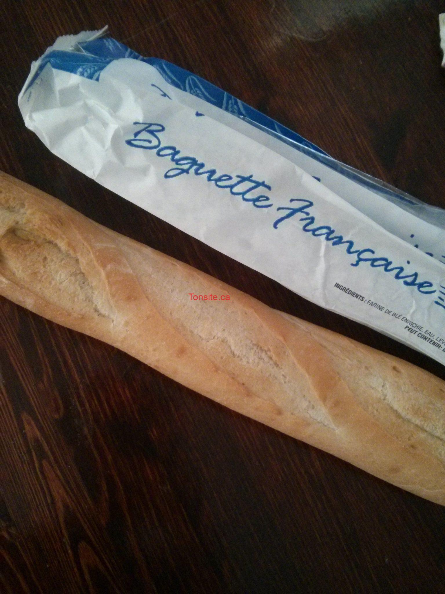 Baguette française (blanc ou blé entier) à 88¢ seulement!