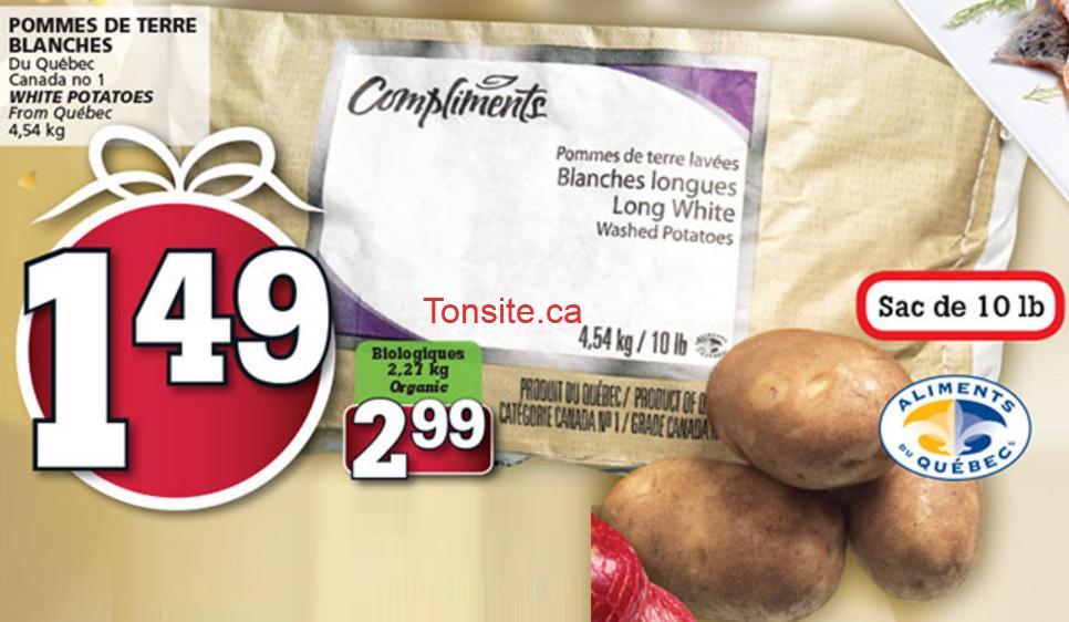 Sac de pommes de terre (10 livres) à 1,49$ seulement!