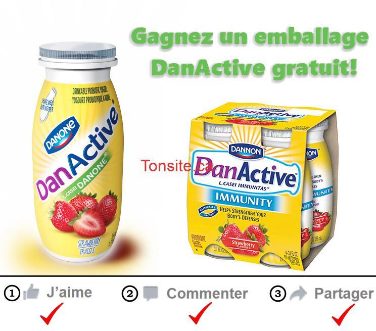 Concours Danone: Gagnez un emballage DanActive gratuit
