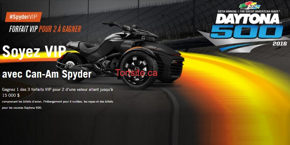 Concours Brp: Gagnez 1 des 2 forfaits expérience VIP au Nascar Daytona 500.